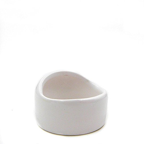 ANONE Ceramic Hamster Bowl No Spill No Turnover Food Water Dish for Guinea Pig Rodent Gerbil Cavy...