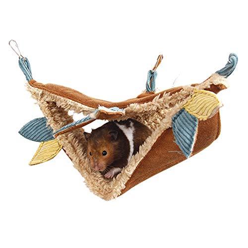 JanYoo Hamster Hammock Cage Accessories Hanging Fleece Bed Swing Bag for Sugar Glider Guinea Pig