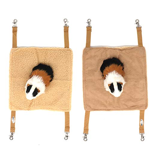EONMIR 2Pack Guinea Pig Hammock, Small Animal Hanging Bed Toys fit Rats, Chinchilla, Pet Cage...