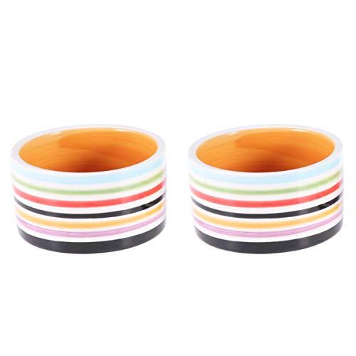 POPETPOP Hamster Feeding Bowl-2pcs Ceramic Food Dishes for Guinea Pig ,Rat,Gerbil,Hedgehog,Syrian...