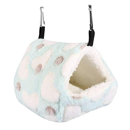 Pet Hamster Hammock, Winter Tent Type Plush Hanging Bed Polka Dot Heart Pattern Colorful Sleeping...