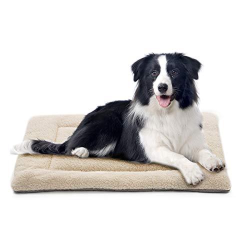 INVENHO Dog Bed Mat Comfortable Soft Crate Pad Anti-Slip Machine Washable Pad Dog Crate Pad Pet Bed...
