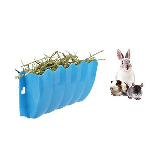 Amakunft Guinea Pigs Hanging Hay Feeder Rack, Rabbit Mess-Free Alfalfa Dispenser, Manger Rack...