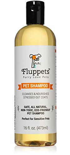 Fluppets Certified Organic Pet Shampoo Natural Hypoallergenic Non Toxic For Sensitive Itchy Skin For...
