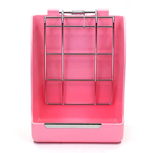 M-Aimee Alfalfa Hay Feeder Manger Rack for Rabbit Guinea Pig Chinchilla (Pink)