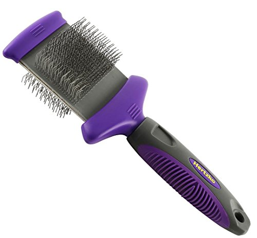 Hertzko Double Sided Flexible Slicker Brush Removes Loose Hair, Tangles, and Knots, Flexible Head...