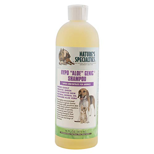 Nature's Specialties Hypoallergenic Aloe Dog Shampoo for Pets, Concentrate 32:1, Made in USA, Hype...