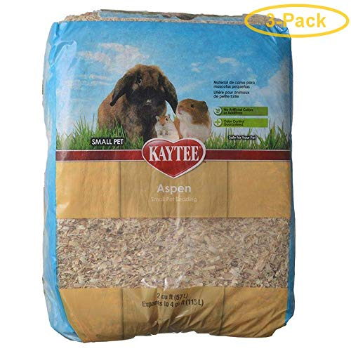 Kaytee Aspen Small Pet Bedding & Litter 1 Bail - (2 Cu. Ft. Expands to 4 Cu. Ft.) - Pack of 3