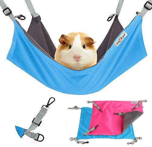 Homeya Small Animal Guinea-Pig Hanging Hammocks Bed Pet Cage Hammock for Ferret Cat Rat Chinchilla...