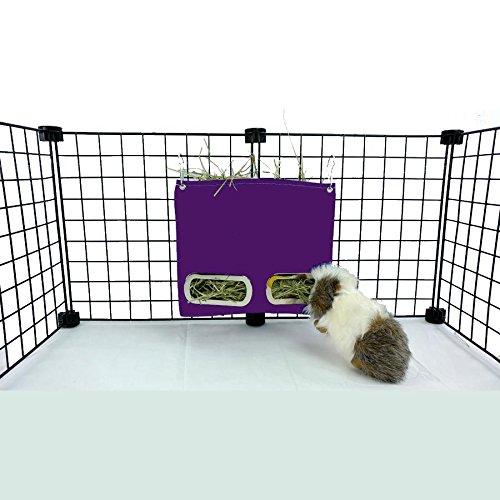 Guinea Pig Hay Bag Feeder (Small, Purple)