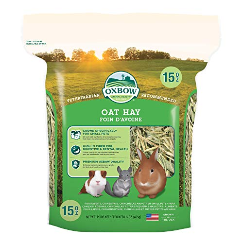 Oxbow Animal Health Oat Hay - All Natural Hay for Rabbits, Guinea Pigs, Chinchillas, Hamsters &...