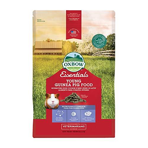 Oxbow Essentials Young Guinea Pig Food - All Natural Guinea Pig Pellets - 5 lb.