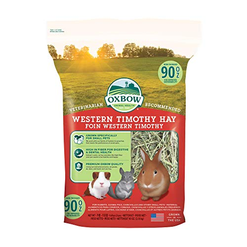 Oxbow Animal Health Western Timothy Hay - All Natural Hay for Rabbits, Guinea Pigs, Chinchillas,...