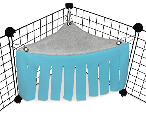 Corner Fleece Forest Hideout for Guinea Pigs, Ferrets, Chinchillas, Hedgehogs, Dwarf Rabbits and...