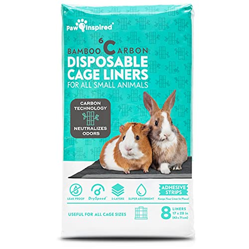 Paw Inspired Disposable Guinea Pig Cage Liners   Bamboo Charcoal Odor Controlling   Super Absorbent...