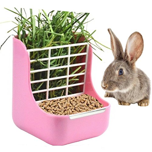 sxbest 2 in 1 Food Hay Feeder for Guinea Pig,Rabbit,Indoor Hay Feeder for Guinea Pig,Rabbit,...