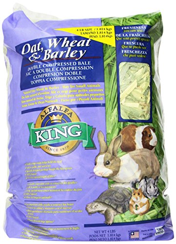 Alfalfa King Double Compressed Oat Wheat And Barley Hay Pet Food, 12 By 9 By 5-Inch