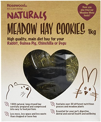 Rosewood Pet Meadow Hay Bales - Food For Small Animals (1 Pack), 2.2 Lb