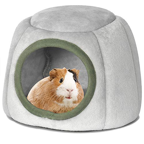 YOGURTCK Guinea Pig Bed, Hedgehog House, Hamster Warm Nest Hideout, Small Animals Cage Cave Supplies...