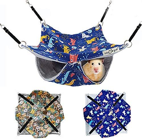 HOMEYA Pet Small Animal Hanging Hammock, Bunkbed Hammock Toy for Ferret Hamster Parrot Rat...