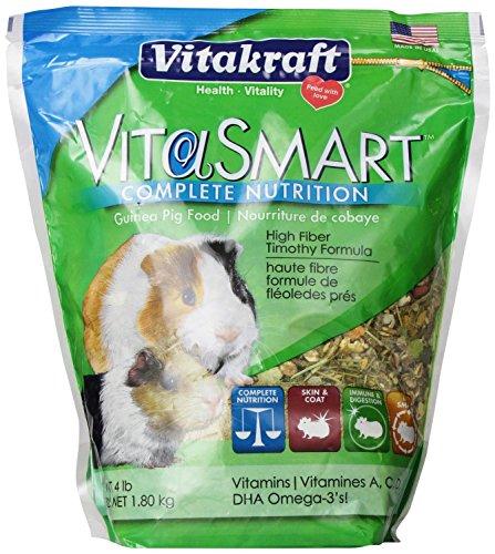 Vitakraft Vita Smart Adult Guinea Pig Food 4lbs, Pack of 2
