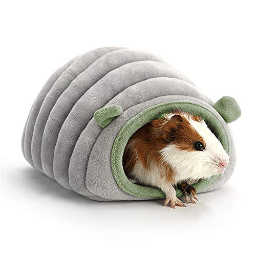 EONMIR Guinea Pig Bed, Hamster Hedgehog Winter Nest, Small Animals Warm Cage Cave Bed House - Gray