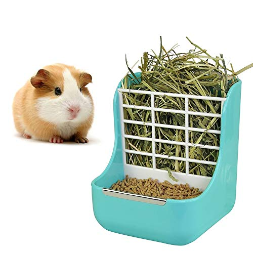 sxbest 2 in 1 Food Hay Feeder for Guinea Pig, Rabbit Feeder, Indoor Hay Feeder for Guinea Pig,...