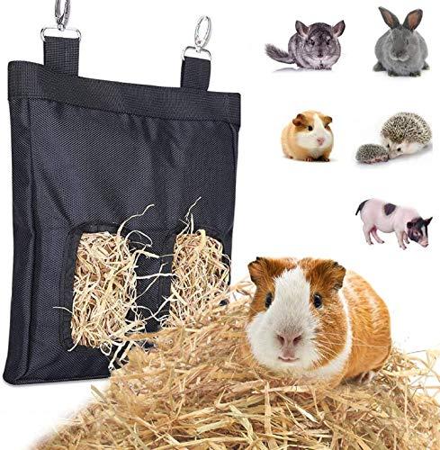 Rabbit Hay Feeder Bag, Guinea Pig Hay Feeder Storage for Rabbit Guinea Pig Chinchilla Hamsters...