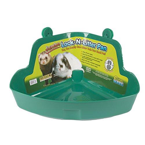 Ware Manufacturing Plastic Lock-N-Litter Bigger Pan for Small Pets, Jumbo - Colors May Vary