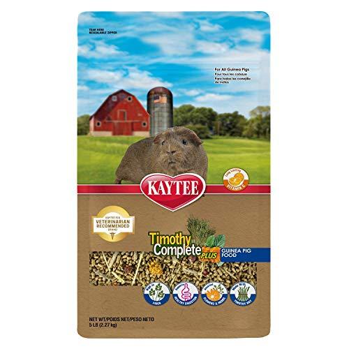 Kaytee Timothy Hay Complete Plus Flowers And Herbs Guinea Pig Food, 5Lb Bag