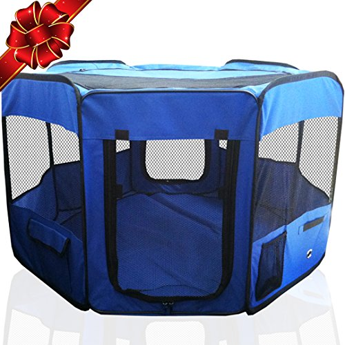 ToysOpoly 45' Indoor/Outdoor Pet Playpen Cage. Best Exercise Kennel for Your Dog, Cat, Rabbit,...