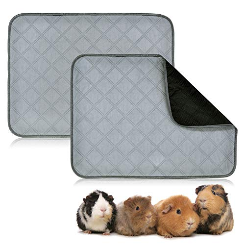 BWOGUE Guinea Pig Fleece Cage Liners, 2 Pack Washable Guinea Pig Pee Pads, Waterproof Reusable& Anti...