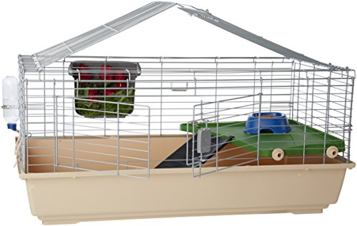 Amazon Basics Small Animal Cage Habitat With Accessories - 42 x 24 x 20 Inches, Large