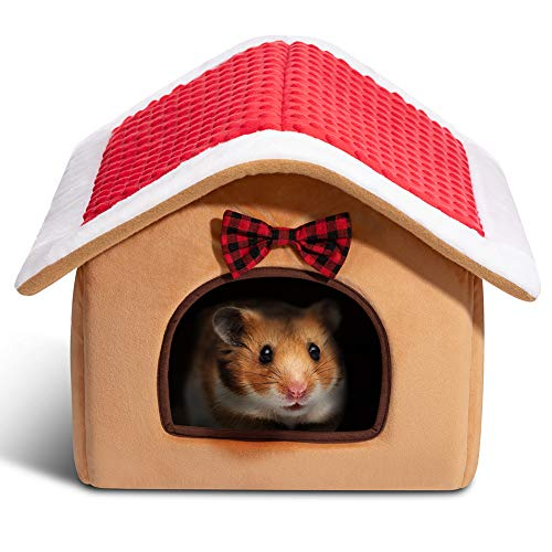 Hollypet Warm Small Pet Animals Bed Dutch Pig Hamster Nest Hedgehog Rat Chinchilla Guinea Habitat...