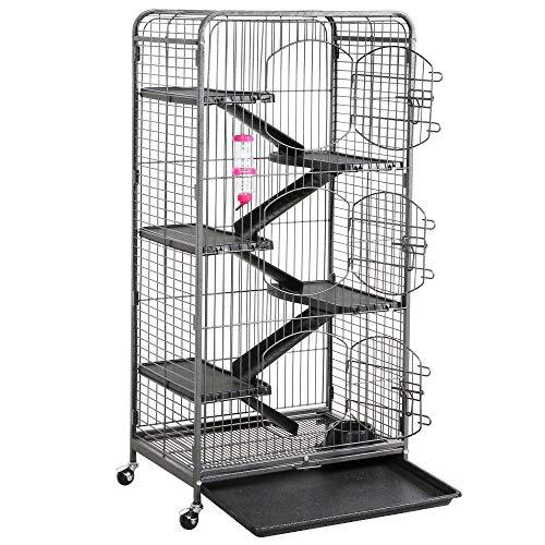 go2buy Metal 6 Levels Ferret Cage Playpen for Rabbit Chinchilla Squirrels w/3 Doors/Bowl/Water...
