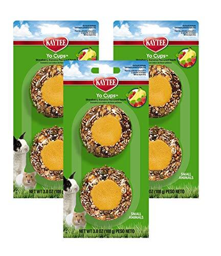(3 Pack) Kaytee Fiesta Yogurt Cup Strawberry Banana Flavored Treats for Small Animals, 6 Total...