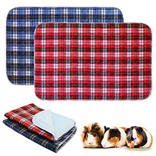 BWOGUE 2 Pack Guinea Pig Cage Liners Washable Guinea Pig Bedding Reusable Waterproof Anti Slip Pee...