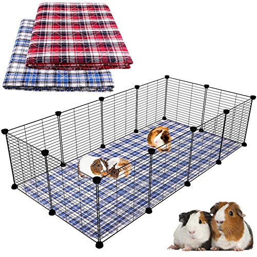 Blaoicni 2 Pack Guinea Pig Bedding Guinea Pig Cage Liners Washable Pee Pads with Fast Absorbent...